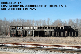 Bruceton NC&StL RR Roundhouse remnants