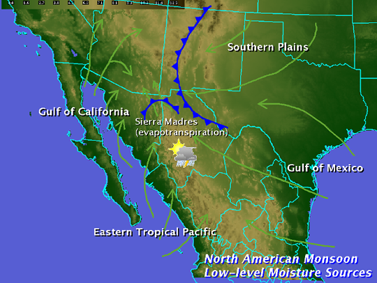 Moisture sources for the North American Monsoon